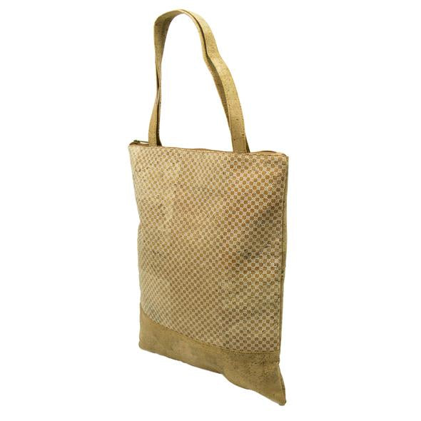 Eco Ninjas vegan leather cork tote bag carryall
