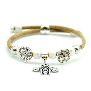 Eco Ninjas cork bee cause bracelet Neonicotinoid pesticides