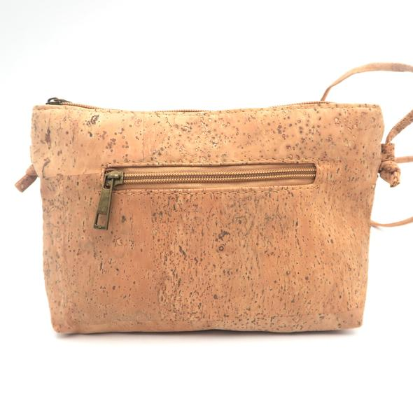 Eco Ninjas vegan leather cork cross body bag gold