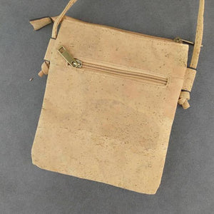 Eco Ninjas vegan leather cork cross body bag laser cut