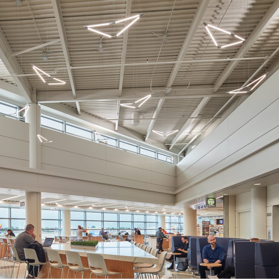 Z-Bar Pendant Birds at Midway International Airport, Chicago