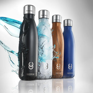 CrazyCap 2.0 UV Water Purifier Bottle 500ml - Onyx