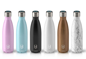CrazyCap 2.0 UV Water Purifier Bottle 500ml - Teakwood
