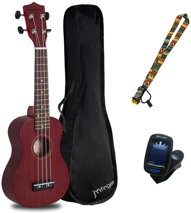 Concert Ukulele Beginner 23 Inch, Sapele Plywood Kids Ukelele Kit with Gig Bag