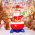 6ft Christmas Santa on Helicopter Inflatable Decorations Blow Up Built-in LED