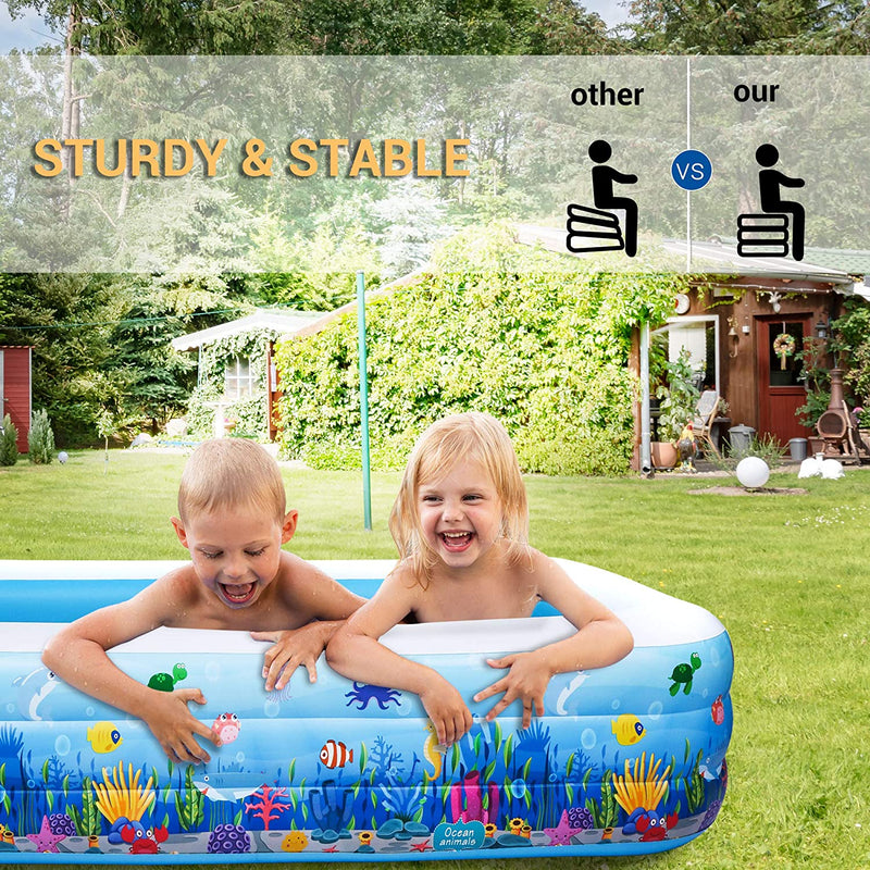 Inflatable Swimming Pool, Above Ground Kiddle Family Lounge Pool