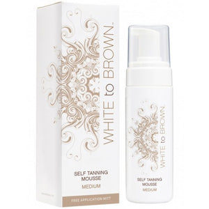 Whitetobrown - Self Tanning MOUSSE - Medium (150 ml) + GRATIS Handschoen