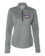 Load image into Gallery viewer, Adidas - Women's Brushed Terry Heathered Quarter-Zip Pullover