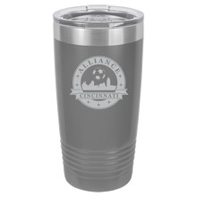 Load image into Gallery viewer, Polar Camel 20 oz. Ringneck Vacuum Insulated Tumbler w/Lid & Silver Ring Featuring the Alliance Logo Laser Engraved