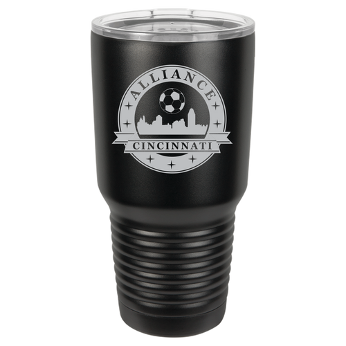 Polar Camel 30 oz. Ringneck Vacuum Insulated Tumbler w/Clear Lid Featuring the Alliance Logo Laser Engraved