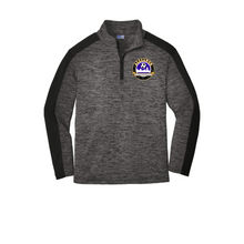 Load image into Gallery viewer, Sport-Tek ® Youth PosiCharge ® Electric Heather Colorblock 1/4-Zip Pullover