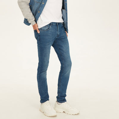 Blue Branded Denim Pant