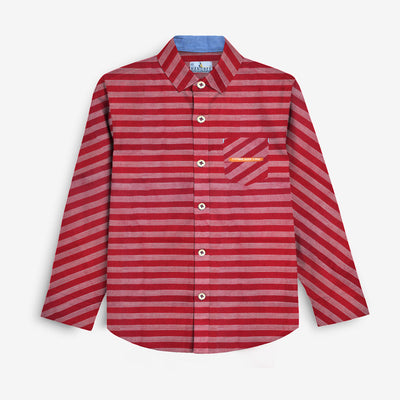 Elegant Fashion Lining Boy's Casual Shirt