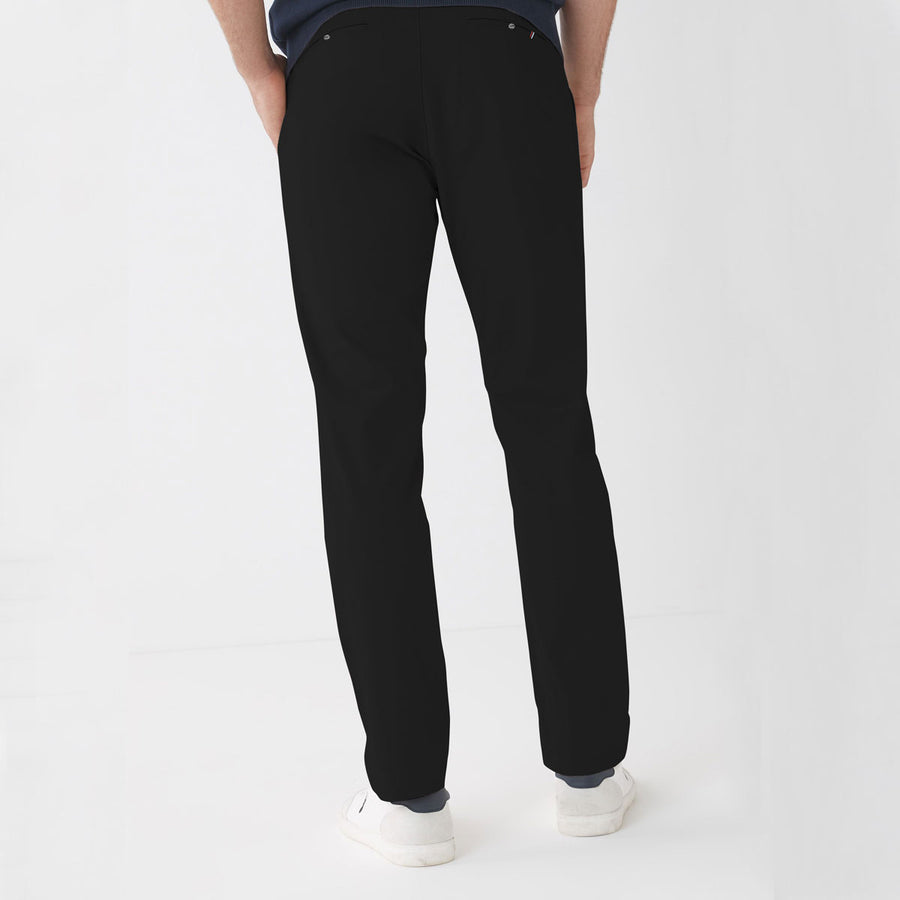ZR MAN Jet Black Narrow Cotton Pant