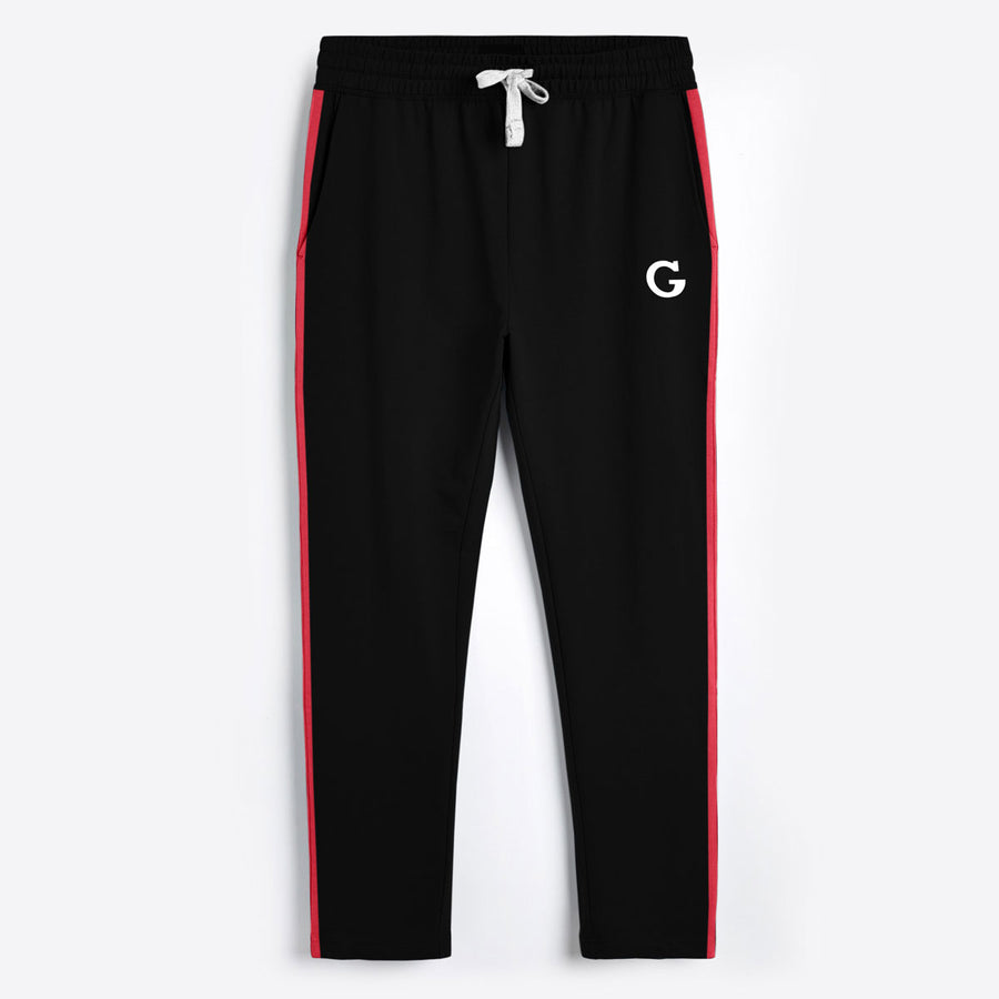Jet Black Contrast Panel Trouser