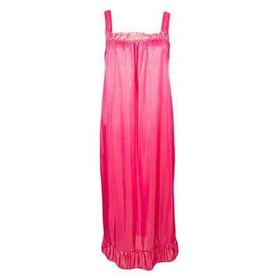 Espico Nylon Long Nighty For Women Pink