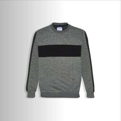 Textured Gray Gentleman Sweat Shirt