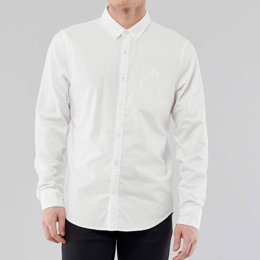 S/H OFF WHITE SELF CASUAL SHIRT