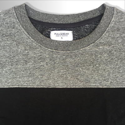 Textured Gray Gentleman Sweat Shirt for Men