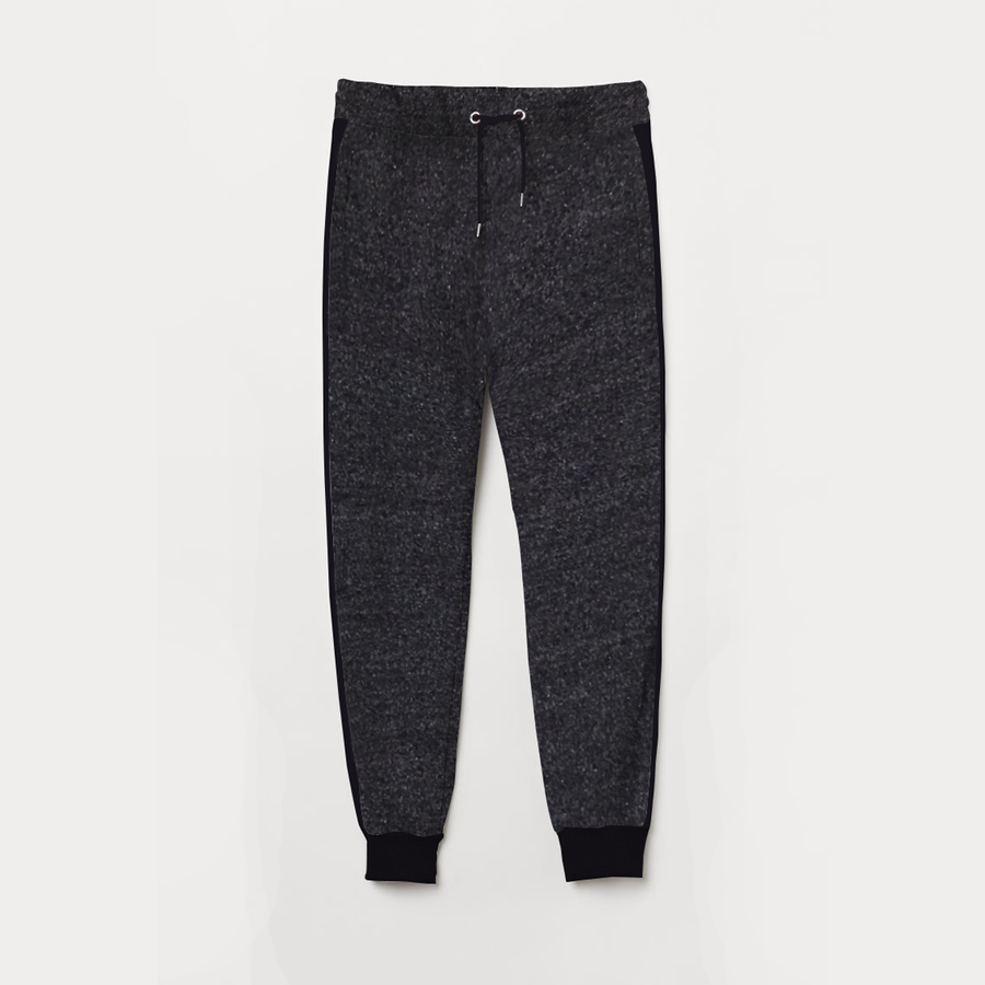 Textured Gray Fashion Joggar Trouser For Her