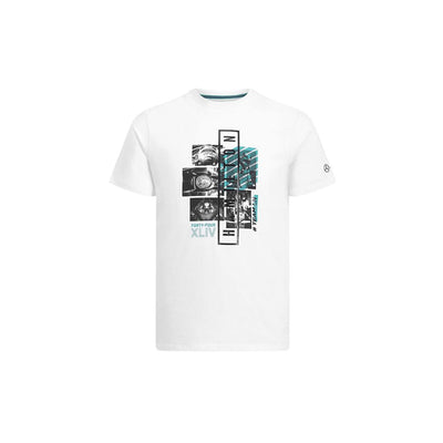 HAMILTON GRAPHIC PRINTED MERCEDZ WHITE T SHIRT