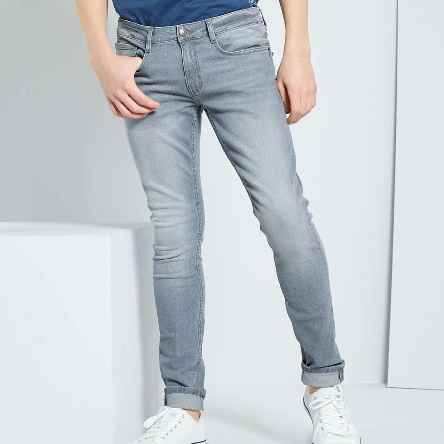 Mid Gray Wash Boy's Denim Pant