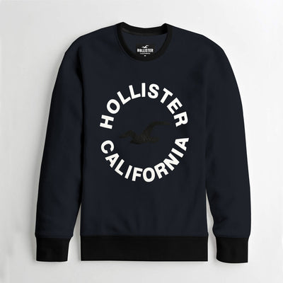 HLSTR Navy Fashion Sweat Shirt