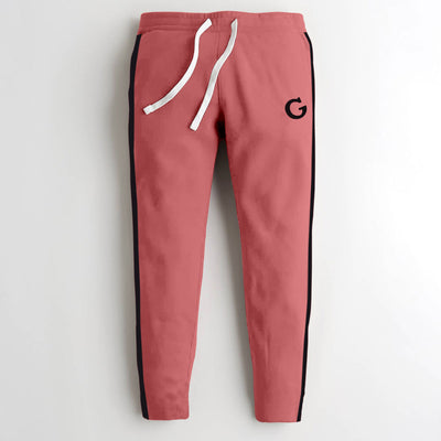 Designer Pink Panel Fashion Trouser Men