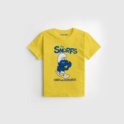 Yellow Printed Kid's Tee