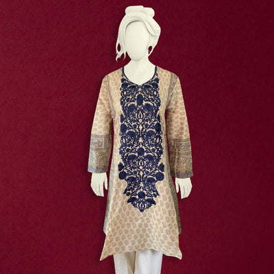 Women Embroidered Lawn Short Frok Kurti