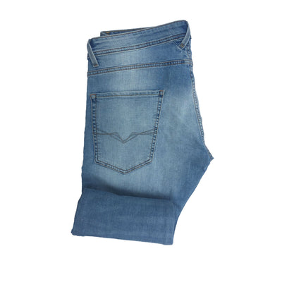 GUESS FADED LIGHT BLUE DENIM PANT Men