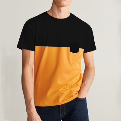 Black Yellow Classical Tee Shirt