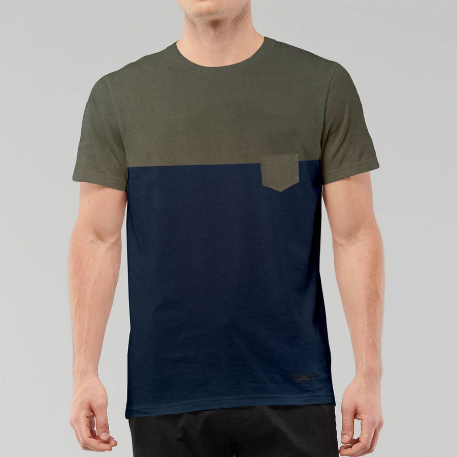 Zara Navy and Green Classical T-shirt
