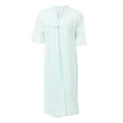 Espico Nylon Net Blossom Nightwear For Women Blue