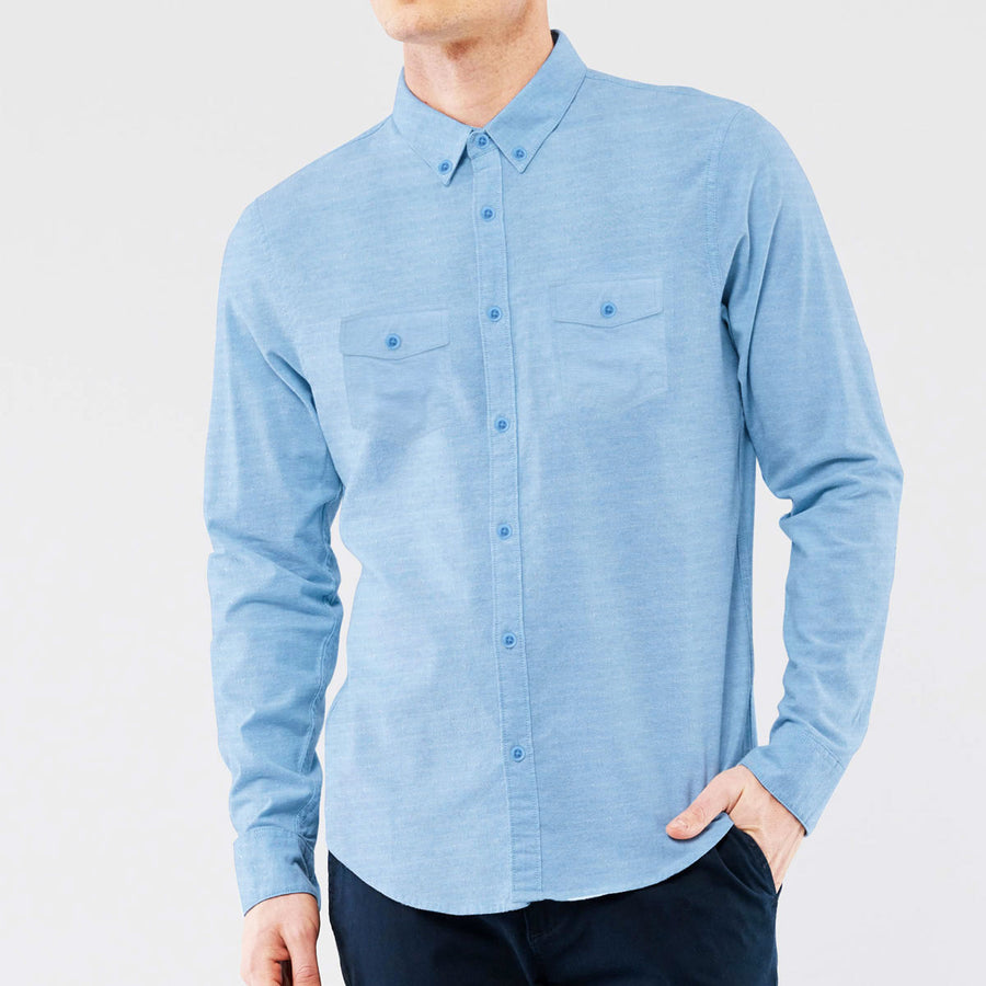 S/H Double Pocket Men Winter Casual Shirt