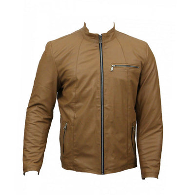 Men Slim Fit PU Leather Jacket RS3