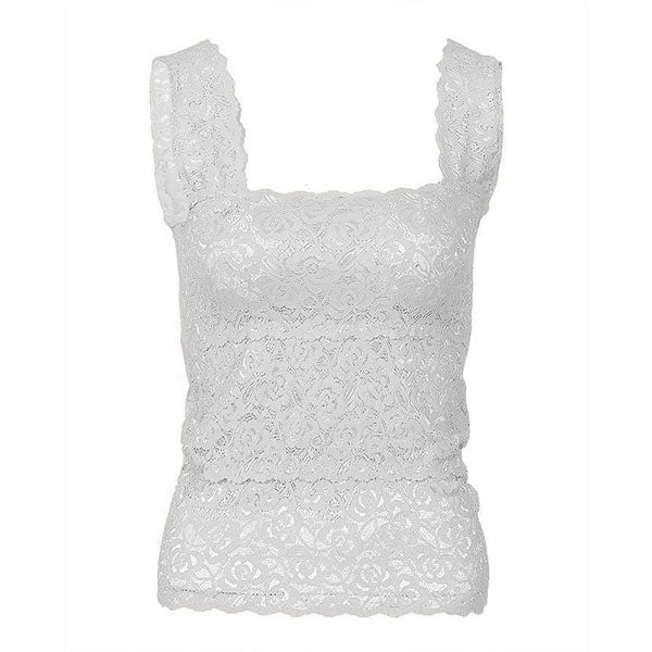 Espico Stretchable Imported Lace Camisole for women Fashion 2000S White