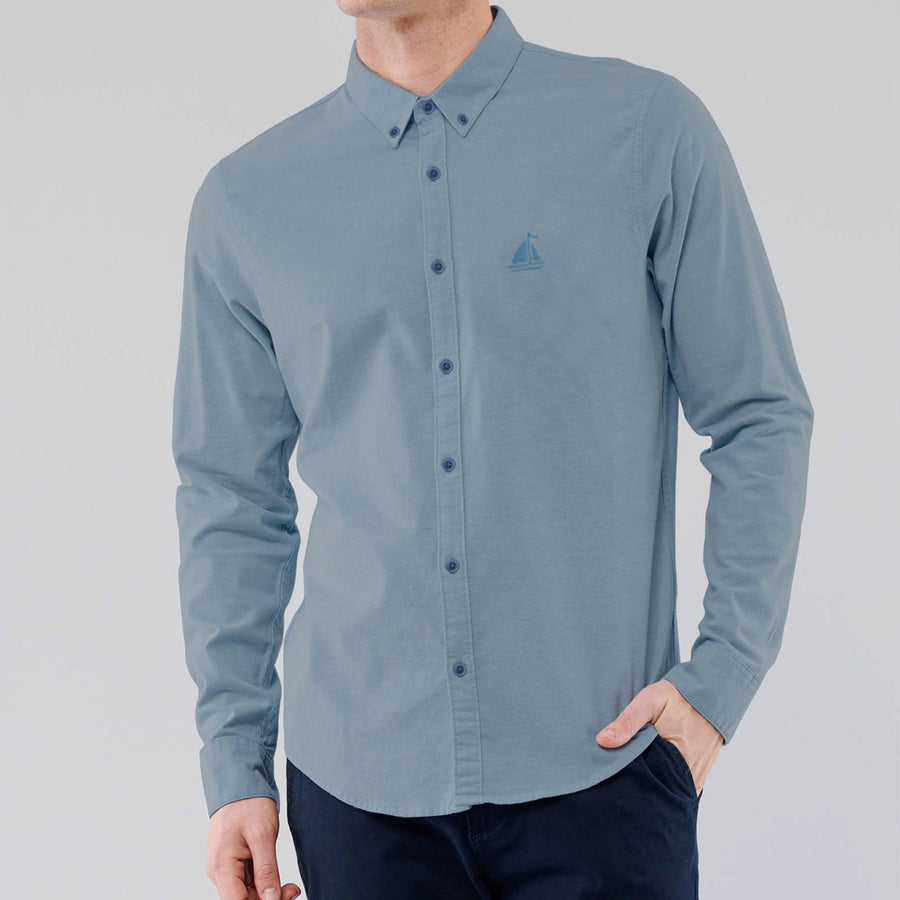 S/H Blowing Gray Casual Shirt