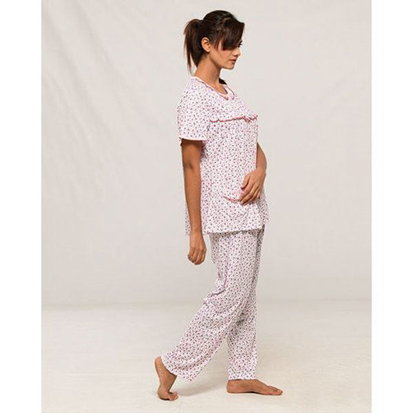 b7e8f5103d8 Espico Cotton Half Sleeves Night Suit for Women Pink
