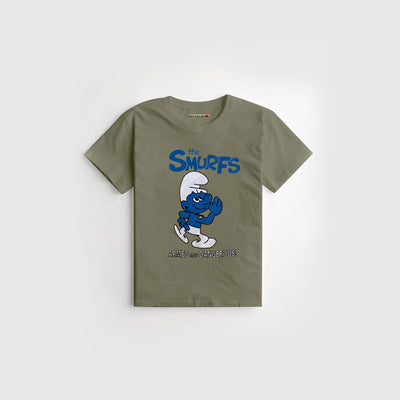 Green Printed Kids Tee