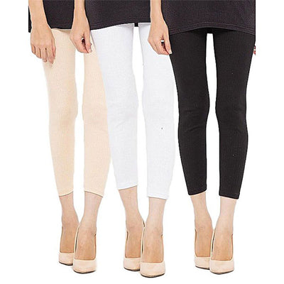 Espico Pack of 3 Cotton Tights For Women ML-01 Multicolor