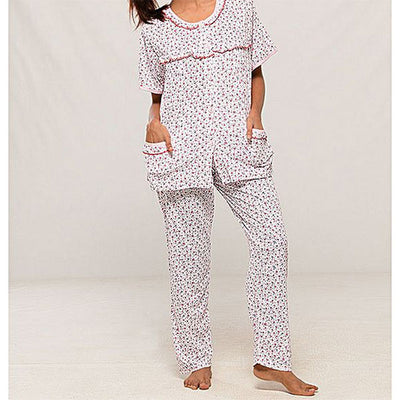 Espico Cotton Half Sleeves Night Suit For Women Pink