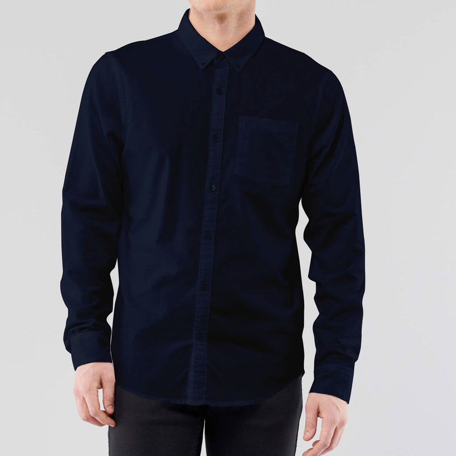 S/H Men High Navy Winter Casual Shirt