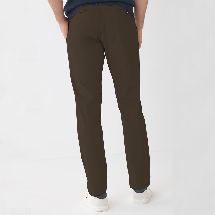 ZR MAN CHOCO BROWN NARROW COTTON PANT