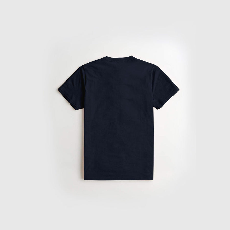 Navy Printed Kids Tee