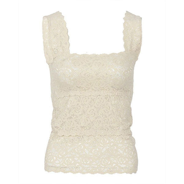 Espico Stretchable Imported Lace Camisole for Women Fashion 2001S White
