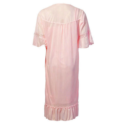 Espico Nylon And Net 2 Pcs Nighty For Women Pink