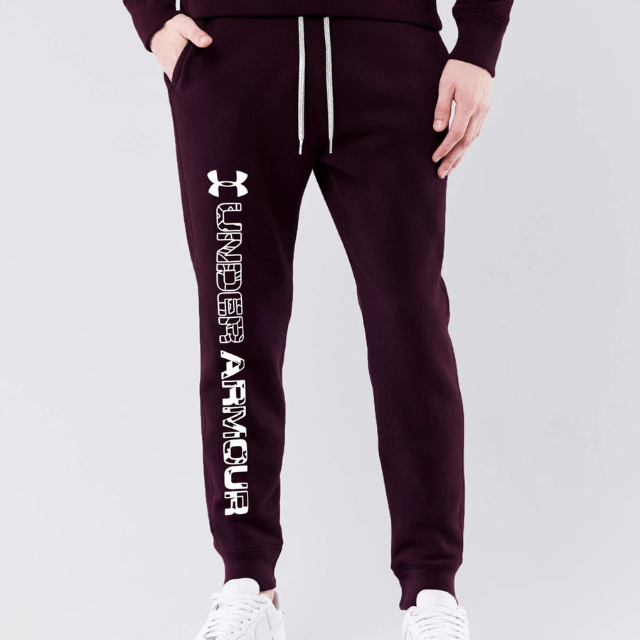 UA MEN CLOSE BOTTON DARK MEHROON JOGGER