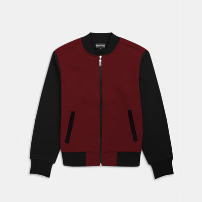 Mock Neck Contrast Fashion Fleece Jacket
