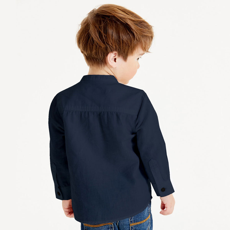 Superstar Navy Boy's Kurta Casual Shirt